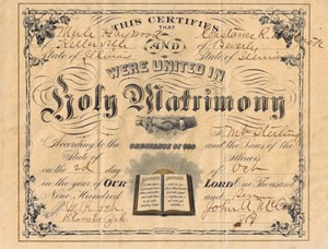 Alfred G Dillon and Mollie Sappington Wedding Anniversary